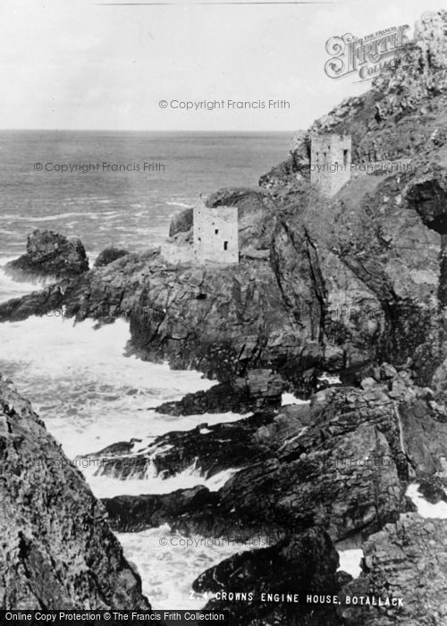 Photo of Botallack, Crowns Engine House c.1955