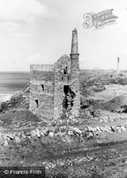 Botallack, Wheal Edward Engine House c.1955