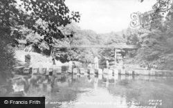 Bothal, Stepping Stones Across River Wabsbeck c.1955
