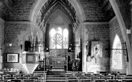 Bothenhampton, Holy Trinity Church Interior c.1939