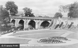 Bridge And Lido c.1935, Bothwell