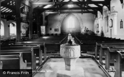 Botley, All Saints Church Interior c.1955