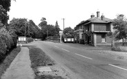 Botley, The Railway Hotel And Station Entrance c.1960