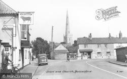Cross And Church c.1955, Bottesford