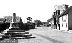 Market Street And The Whipping Post c.1955, Bottesford