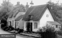 Thatched Cottages c.1955, Bourn