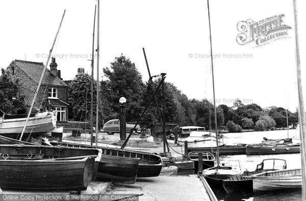 Bourne End, Townsend Boat Landing c.1955