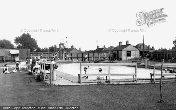 Bourne, The Swimming Pool c.1955