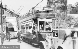Bournemouth, A Tram And A Trolleybus c.1939