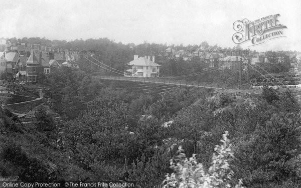 Bournemouth, Alum Chine Footbridge 1906