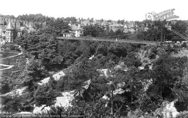 Bournemouth, Alum Chine Suspension Bridge 1908