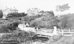 Bournemouth, 'brookside' And Bridge Near Pier Approach 1865