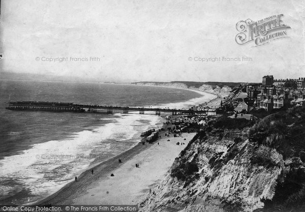 Bournemouth, From East Cliff 1887