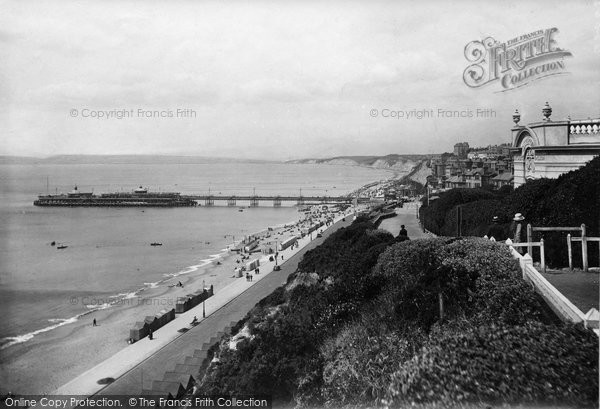 Bournemouth, From East Cliff 1918