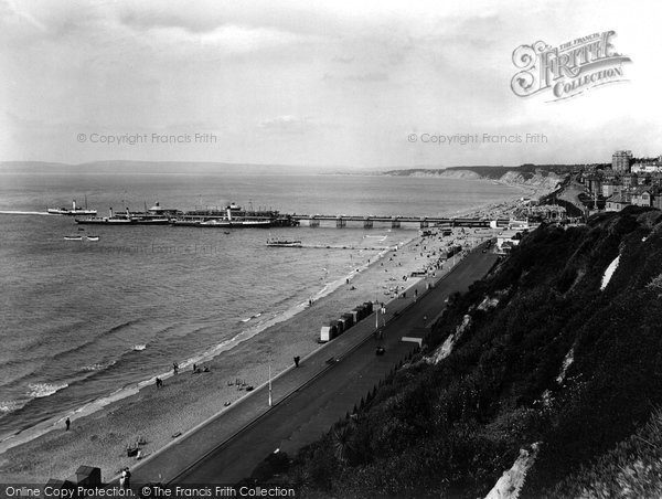 Bournemouth, From East Cliff 1925