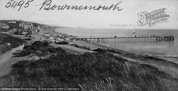 Bournemouth, From West Cliff c.1869