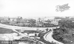 Bournemouth, Horseshoe Common And Holy Trinity Church c.1870