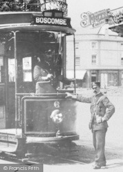 Bournemouth, Lansdowne, Bus Conductor c.1905
