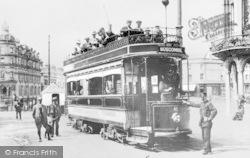 Bournemouth, Lansdowne, Tramcar c.1905
