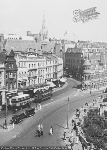 Bournemouth Old Christchurch Road 1933 Francis Frith