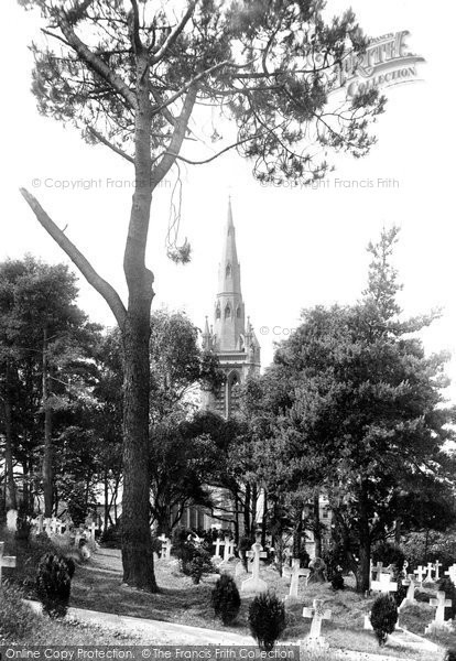 Bournemouth, St Peter's Church And The Cemetery 1890