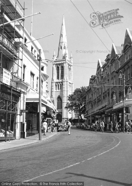 Bournemouth, St Peter's Church c.1950