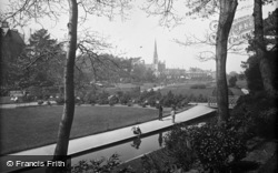 Bournemouth, St Peter's Church From The Gardens c.1900