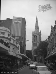 Bournemouth, St Peter's Church From Westover Road Junction c.1977