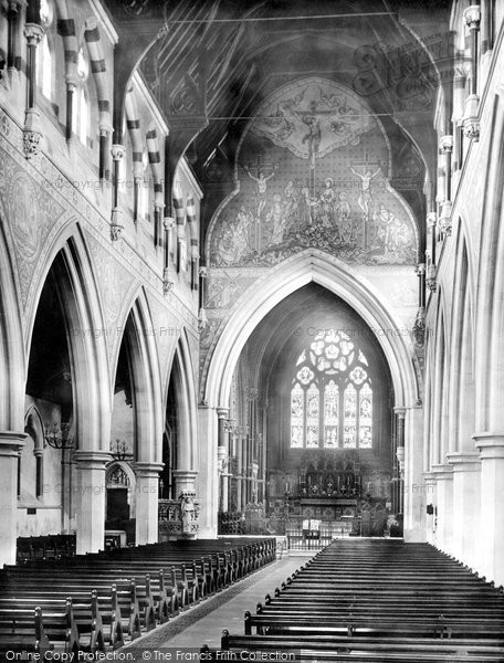 Bournemouth, St Peter's Church, Nave East 1890