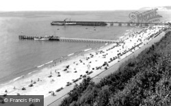 The Beach And The Piers c.1950, Bournemouth