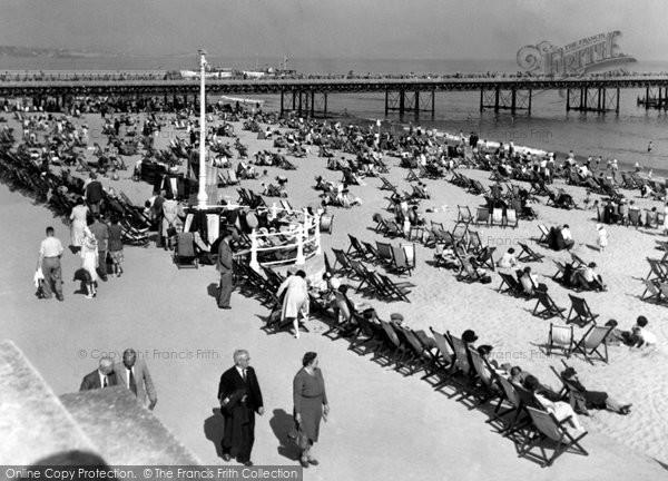 Bournemouth, The Beach c.1955