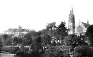 Bournemouth, The Gardens And Mont Dore Hotel 1897