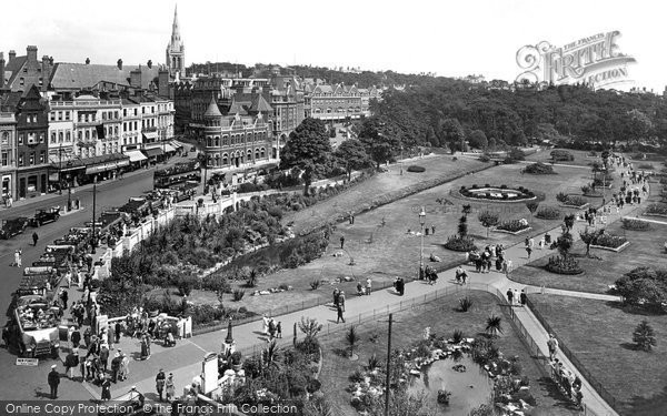 Bournemouth, The Square And Gardens 1925