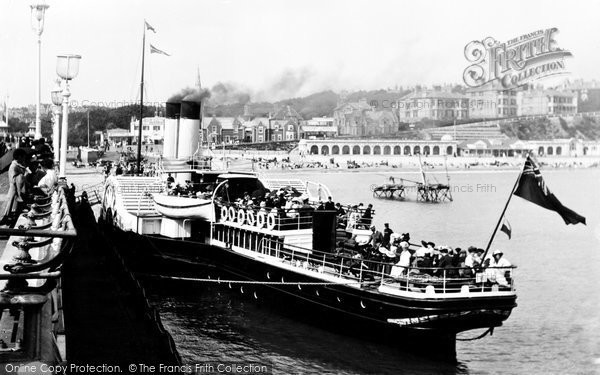 Bournemouth, The Swanage Boat 'brodick Castle' 1908
