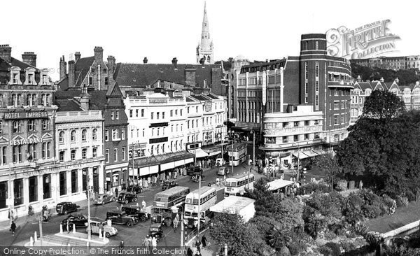 Bournemouth, Town Centre c.1955