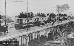 Bournemouth, Tuckton Bridge, Trams At The Opening 1905