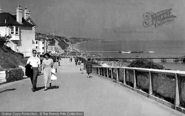 Bournemouth, View From West Cliff c.1960