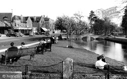 View From The Memorial c.1955, Bourton-on-The-Water