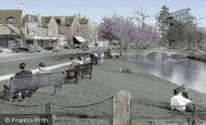 Bourton-on-The-Water, View From The Memorial c.1955