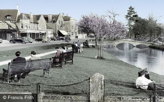 Bourton-on-the-Water, view from the Memorial c1955