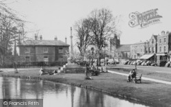 War Memorial And Village c.1955, Bourton-on-The-Water