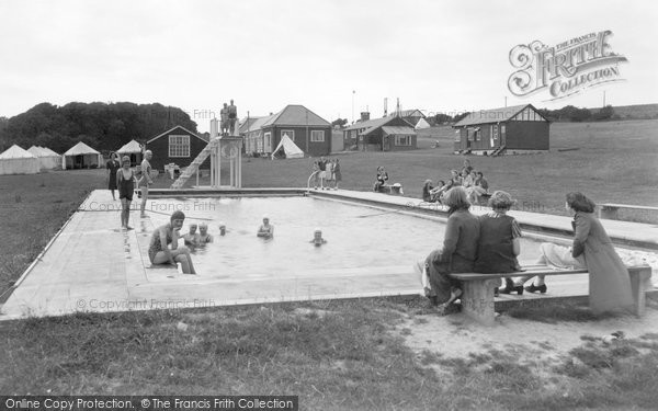 Boverton, Girls Camp Swimming Pool c.1950