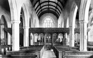 Bovey Tracey, Church Interior 1907