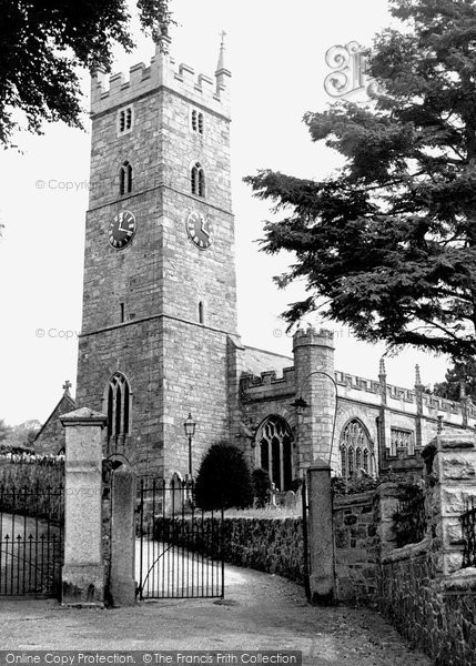 Bovey Tracey, Parish Church c.1955