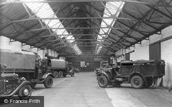 Bovington, A.F.V. Garage c.1955, Bovington Camp