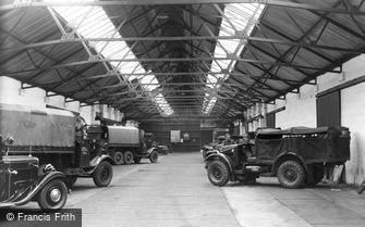 Bovington, A.F.V. Garage c1955