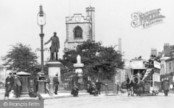 Bow Road And St Mary's Church c.1905, Bow
