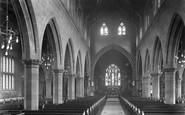Bowdon, Church Interior 1913
