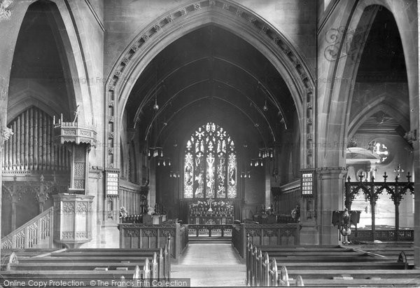 Bowdon, Church, The Chancel 1913