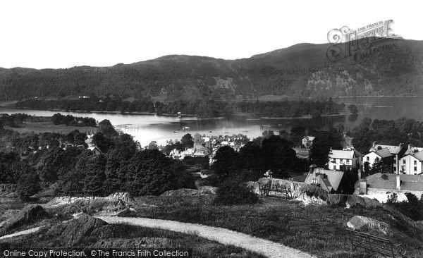Bowness On Windermere, And Belle Island 1893